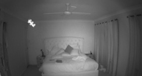 Unexplained lights in bedroom caught on infrared camera