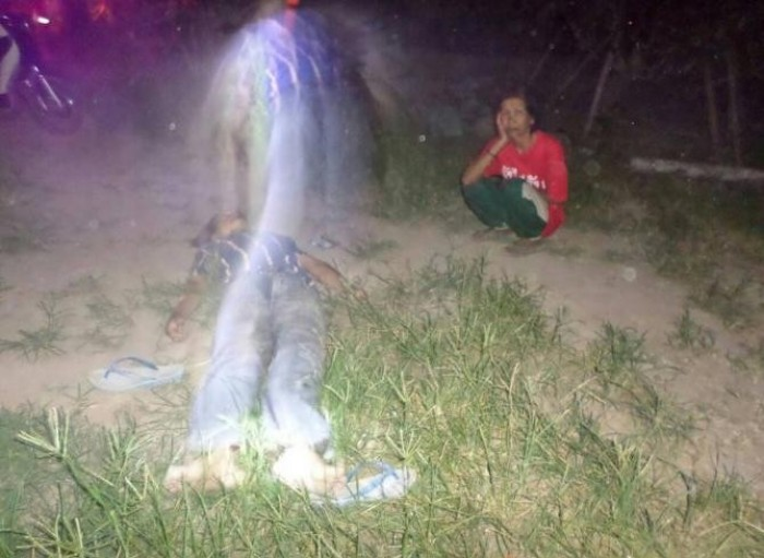 Crime scene spirit photo captured by Police