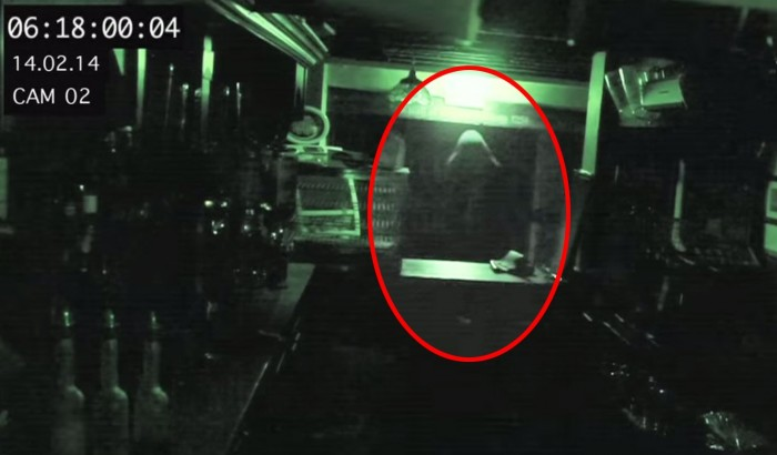 CCTV catches 'ghost' at Ye Olde Man and Scythe pub